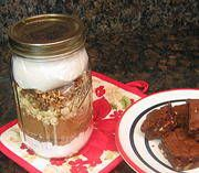 White Chocolate Chunk Brownies - Mix in a Jar