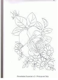 Resultado de imagem para riscos de rosas para pintura