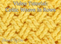Diagonal Celtic Weave in Rows - free photo and video crochet tutorial at Charmed By Ewe.