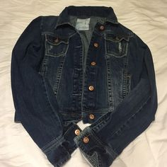 Blue Jean Jacket I've had this jacket for several years and haven't worn it more than five times, so it's in excellent condition. It runs a little small, so it would best fit a medium or small for comfortable layering. Aeropostale Jackets & Coats Jean Jackets