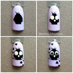 Про Ногти (МК,материалы для ногтей)Nails PRO™ nail art designs 2019 nail designs for short nails easy nail art stickers online nail art stickers how to apply nail art strips Owl Nail Art, Owl Nails, Animal Nail Art, Minion Nails, Owl Nail Designs, Nail Polish Designs, Nail Swag, Gel Nagel Design, Nail Art Stickers