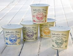 Bellweather Yogurt and Cheese Packaging - Packaging - Yogurt Yogurt Packaging, Dairy Packaging, Cheese Packaging, Milk Packaging, Food Packaging Design, Bottle Packaging, Pretty Packaging, Product Packaging, Cheese Brands