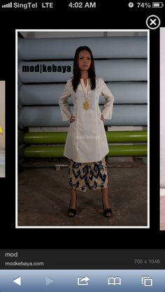 Kebarung Kebaya, Modest Fashion, Lace Skirt, Girls Dresses, White Dress, Ankara, Skirts, Traditional, Inspiration