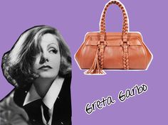 A Greta da Bally homenageia a atriz Greta Garbo e a curvatura intensa de sua alça é obviamente uma referência às suas famosas sobrancelhas.