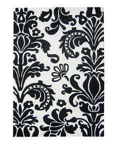 Black & White Damask Rug