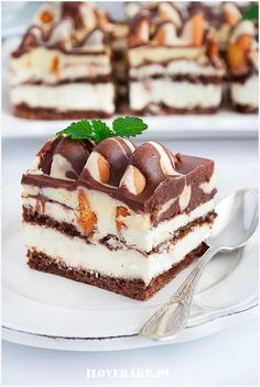 Iceberg cake – About Healthy Desserts Jello Recipes, Brownie Recipes, Cookie Recipes, Dessert Recipes, Most Popular Desserts, Easy Desserts, Pastry Recipes, Baking Recipes, Polish Desserts