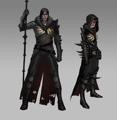 Matt Rhodes. Concept artist at Bioware. Works on Dragon Age series. Character Designs for Dragon Age II. #male #female #dark