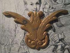 1 Older Vintage Patina Stamped Brass Finding by StarPower99, $3.60