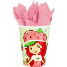 Strawberry Shortcake Birthday Party Supplies Paper Beverage Drink Cups 8   $6.79
