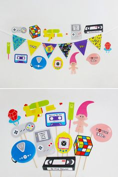90s Party Decorations 90s Party Photo Booth Props 90s Banner