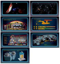 Star Trek TOS graphics 3--the bottom one looks like the Tardis!!