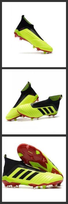 huge discount 112cd 6befd Adidas Predator 18+ FG - Tacchetti da Calcio Volt Nero Rosso. Scarpe Magista