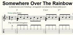 """SOMEWHERE OVER THE RAINBOW"" - Brand new Chord/Melody arrangement for solo ukulele by Ukulele Mike Lynch"