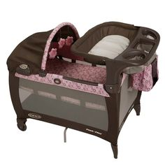 New Pack N Play Pink Paisley Playard Newborn Napper