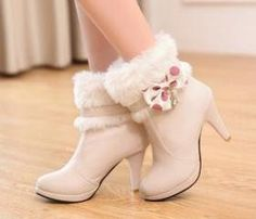 Cheap Winter Round Toe Bow Tie Decorated Slip On Stiletto Super High Heel Pink PU Short Riding Boots Fancy Shoes, Pretty Shoes, Cute Shoes, Pink High Heels, Super High Heels, High Heel Boots, Heeled Boots, Shoe Boots, Ankle Boots