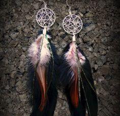 Bohemian dreamcatcher earrings by ChezlyXsane on Etsy, $17.00