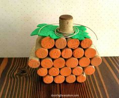 This DIY wine cork pumpkin is the perfect addition to your fall decor. It's quick and easy to make, and a great excuse to drink some wine!