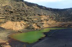 Canary Island - Lanzarote, El Golfo, lake