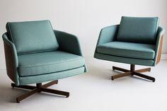 Mid-Century Modern Freak | Swanky Lounge Chairs | Design: Milo Baughman for...