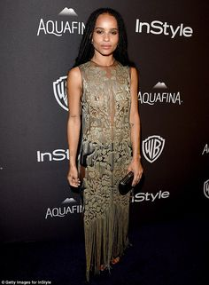 957a856cb1 Sheer daring  Zoe Kravitz wore a very revealing see-through number Kylie  Jenner