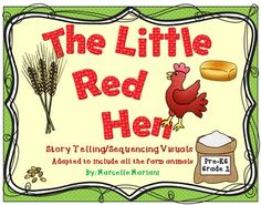 """FREE """"The Little Red Hen-On the FarM"""" -Story Telling -Sequencing.....Follow for Free """"too-neat-not-to-keep"""" teaching tools & other fun stuff :)"""