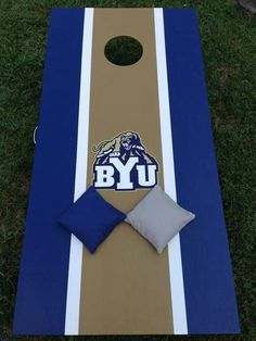 Cornhole Boards BYU Cougars Blue// White Large Premium Vinyl Decal