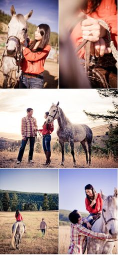 just like how our engagement pics will be! I lovee the shot of the ring with the reins :D so cute