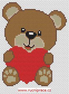 teddy bear - free cross stitch pattern