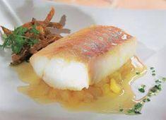 Bacalao confitado con dados de manzana #cuisine #recipes