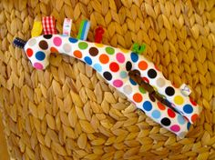 Baby Toy Giraffe Rattle by yayahdesign on Etsy, $24.00