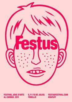Festus Poster design inspiration from Baubaus haus.