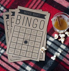 Need an awesome stay-in entertaining idea? Today we're throwing a Movie Bingo Night (with downloadable invitations)