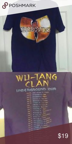 Forever21 Wutang t shirt!! Forever21 Wutang T shirt. Gently used. Its an xs in mens but i used to wear it so its pretty unisex. No stains or tares. Runs like a small in ladies. Make an offer!! Forever 21 Shirts Tees - Short Sleeve