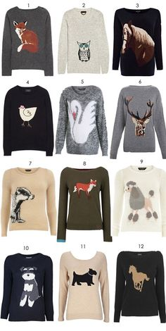Animal motif sweaters and jumpers, where to buy. Graphic Sweaters, Graphic Shirts, Jumper Outfit, Sweater Shirt, Pretty Outfits, Cool Outfits, Animal Sweater, Love Fashion, Fashion Outfits