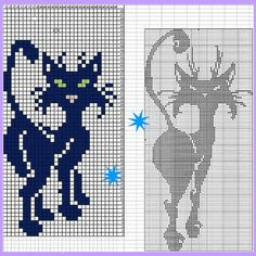 Фотография Cat Cross Stitches, Counted Cross Stitch Patterns, Cross Stitch Charts, Cross Stitching, Embroidery Stitches, Embroidery Patterns, Knitting Charts, Knitting Patterns, Crochet Patterns