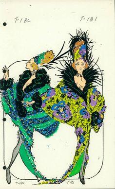 Female Singer Costume designed by Pete Menefee for Jubilee! Singer Costumes, Theatre Costumes, Fashion Illustration Vintage, Fashion Illustrations, Rendering Drawing, Costume Design Sketch, Showgirl Costume, Design Reference, Fashion Sketches