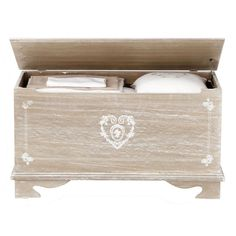 Baúl de madera agrisada An. ... - Camille