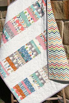 Modern Baby Quilt Blanket Nursery Bedding by SunnysideDesigns2