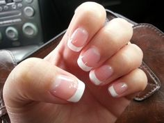 French Manicure at Home Without Guide Strips
