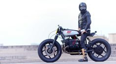 La Parisienne, created by Paris based Blitz Motorcycles for the French Insurance Company La Parisienne. The donor bike here is a BMW R100 RT01 from 1984  Blitz_BMW_Parisienne_Film_3.jpg 854×476 pixels