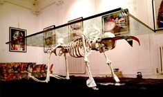 25 Macabre Home Decor Options - From Disco Skull Chandeliers to Skeleton Tables (CLUSTER)