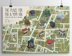In the box Line Illustration, Graphic Design Illustration, Illustrations, Design Thinking, Isometric Map, Map Layout, Map Projects, Board Game Design, Tourist Map