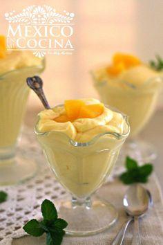 Receta de mousse de mango rápido y sencillo.  #VidaDole  #ad