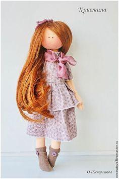 Кристина. Интерьерная кукла. - бледно-сиреневый,кукла,кукла ручной работы