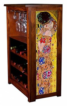 The Kiss by Klimt Wine Cabinet *** To view further for this item, visit the image link. (This is an affiliate link) Red Cabinets, Wine Cabinets, Klimt, Liquor Cabinet, Storage, Furniture, Image Link, Home Decor, Purse Storage