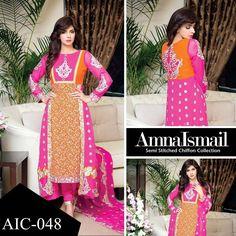 Amna Ismail Chiffon Wedding Season Collection 2015-16
