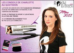 Conseils pour lisser les extensions de cheveux !  www.royalextension.com