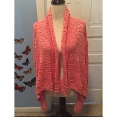 Peachy High Low Sweater Measurements - Bust 21in / Length 23in Moda International Sweaters Shrugs & Ponchos