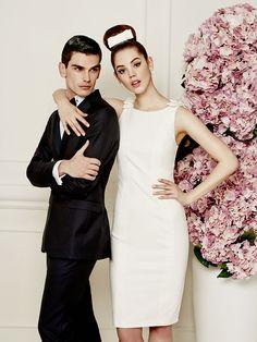 f24cf32f528b fitted white mini dress with bow shoulders Φορέματα Παράνυμφων, Νυφικά,  Γάμοι