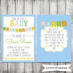 Baby Sprinkle Invitations  Double Sided Card  by AStitchOfHandmade, $16.50 Baby Sprinkle Invitations, Sprinkle Party, Sprinkles, Birthday Parties, Cards, Gifts, Baby Showers, Gift Ideas, Anniversary Parties